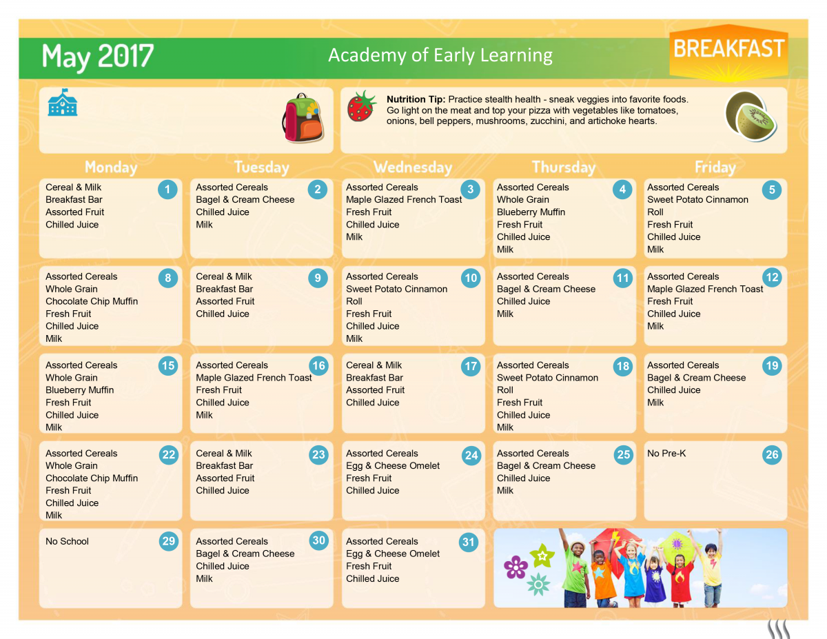 May 2017 AEL Breakfast Menu