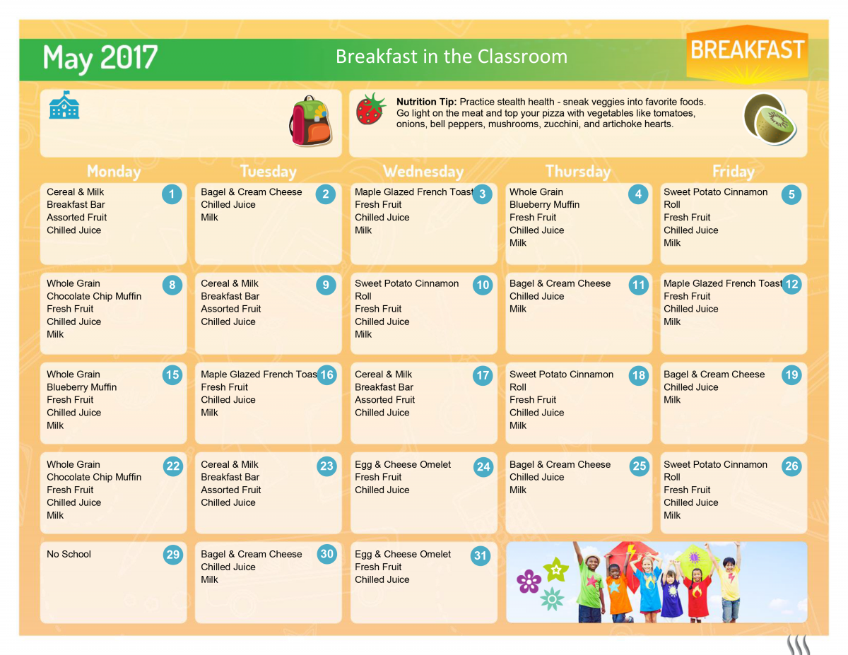 May 2017 BIC Breakfast Menu