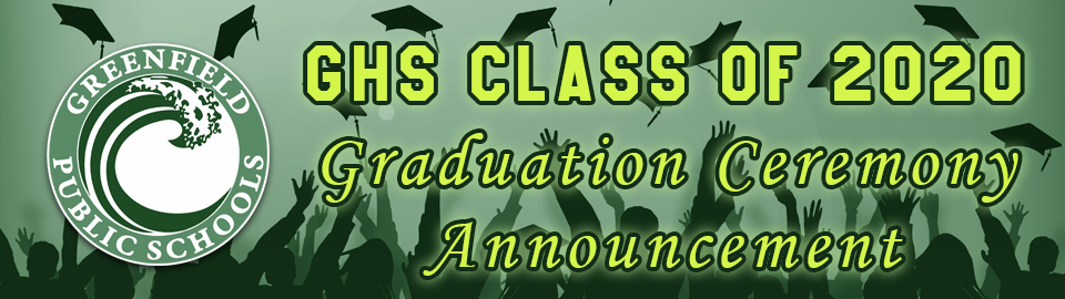 Class of 2020 grad ceremony banner