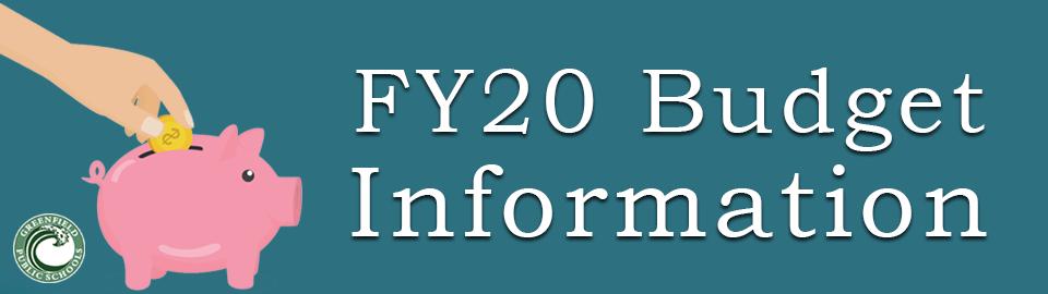 FY20 Budget Information banner