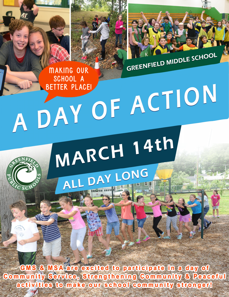 Day of Action event at GMS and MSA