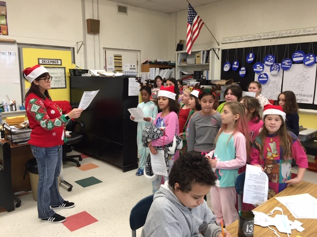 Rehearsing for winter concert