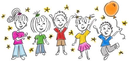 celebrating kids clipart