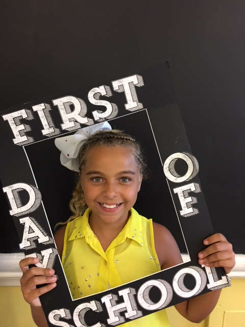 First Day of School frame picture