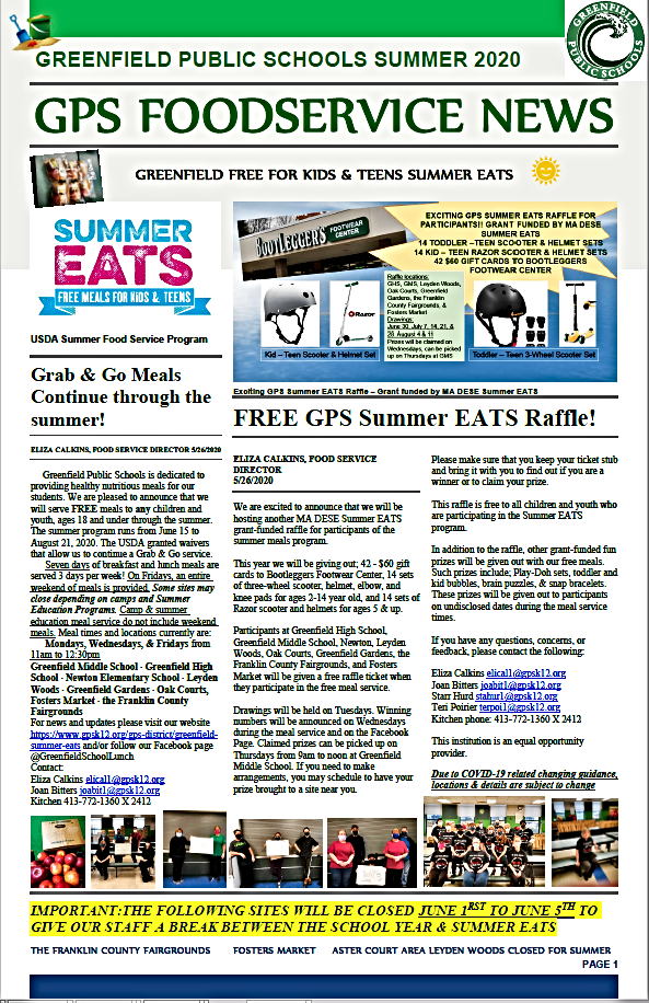 GPS Summer EATS 2020 Newsletter