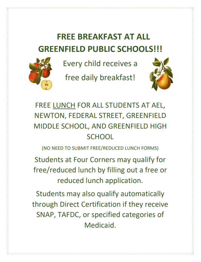 Free and Reduced Meals Information