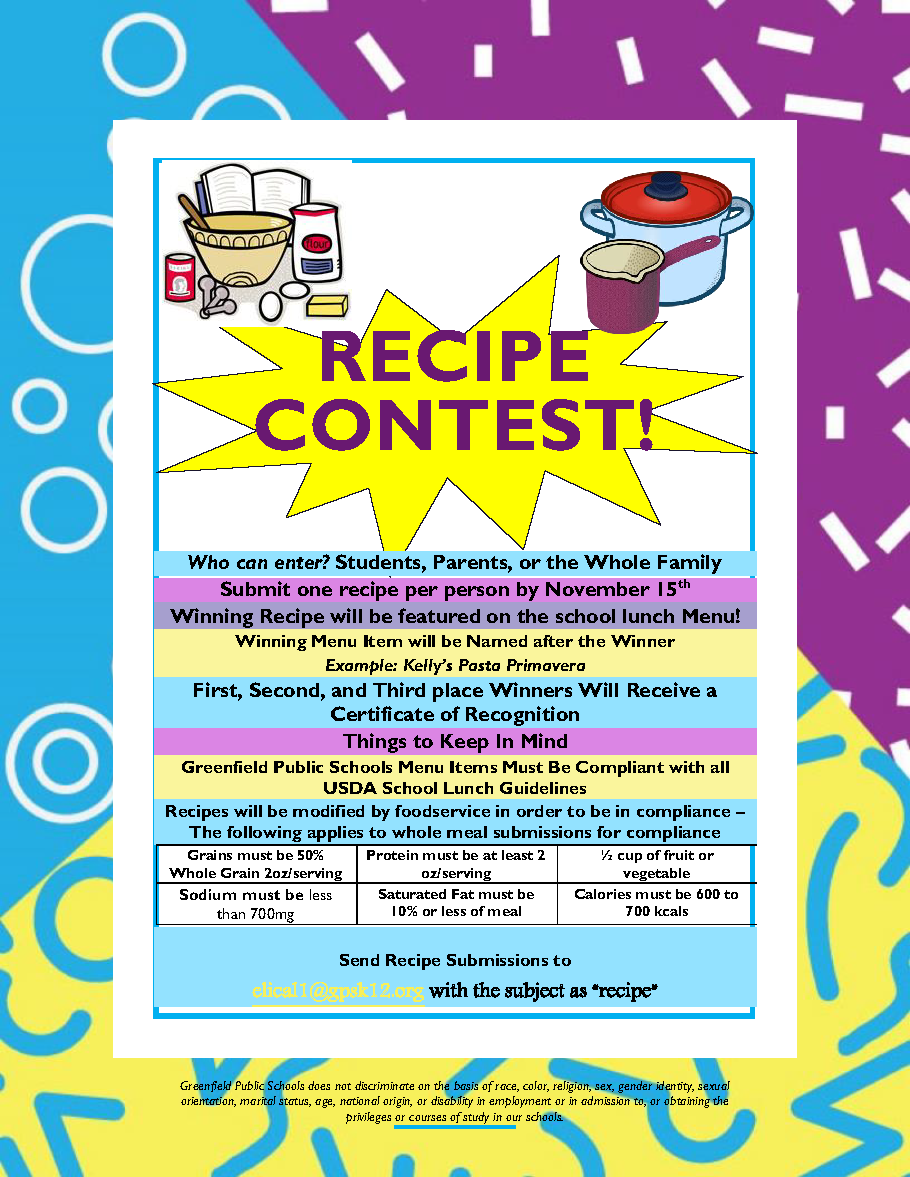 Recipe Contest Directions Page 1