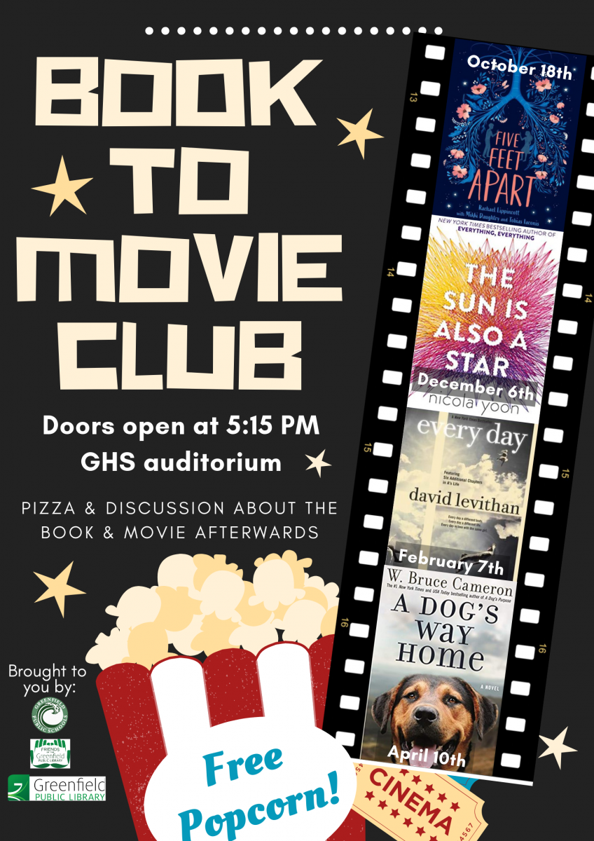 Book to Movie Club 2019 flyer
