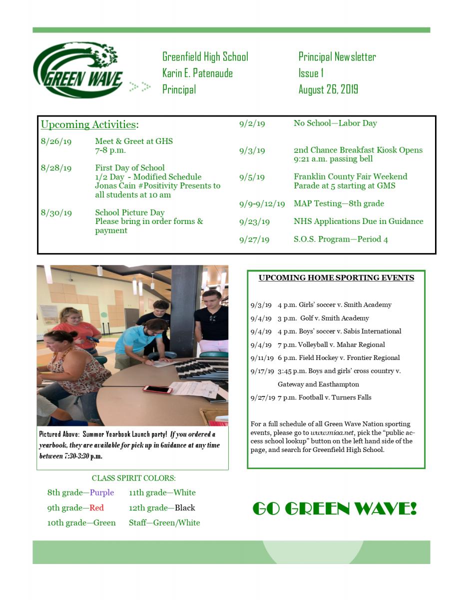 Greenfield High School | Greenfield Public Schools