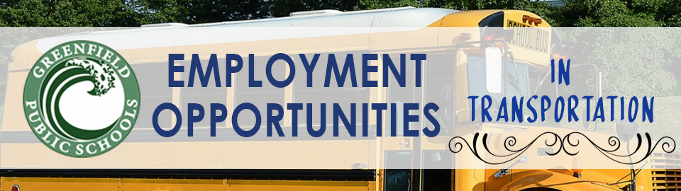 job opportunities in transportation banner updated