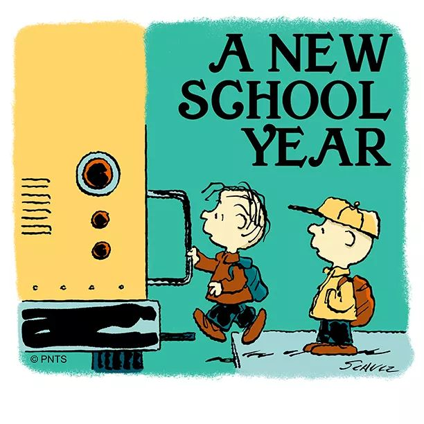 charlie brown new school year comic