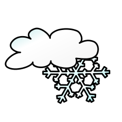 cloud and snowflake clipart