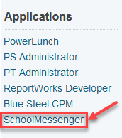 School Messenger Link in PowerSchool