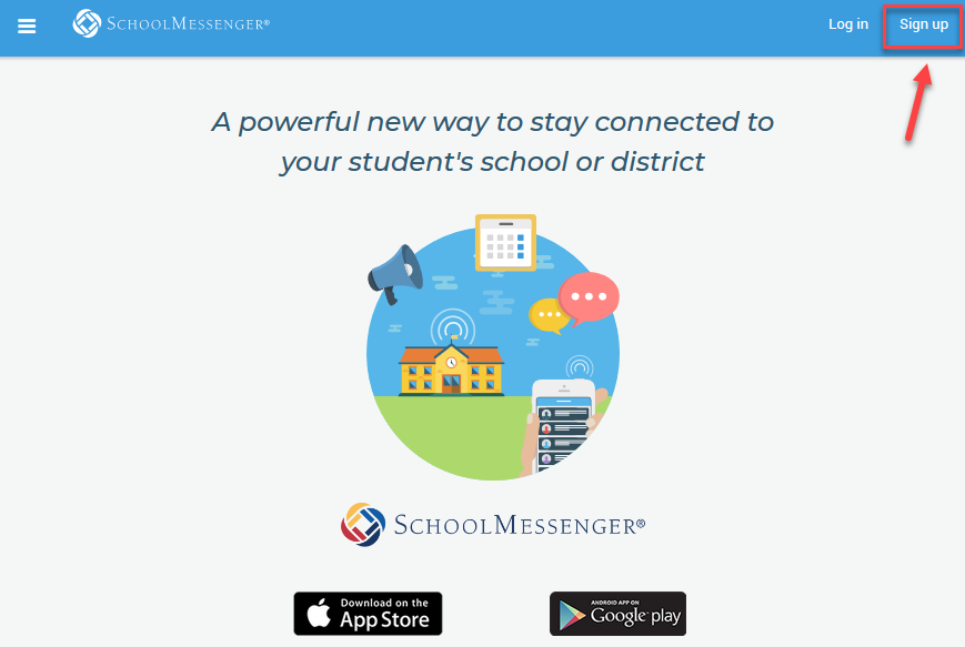 Teacher Signup for School Messenger account
