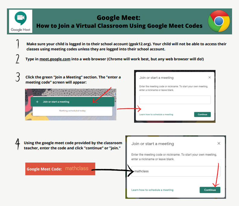 Join Google Meet with a Code