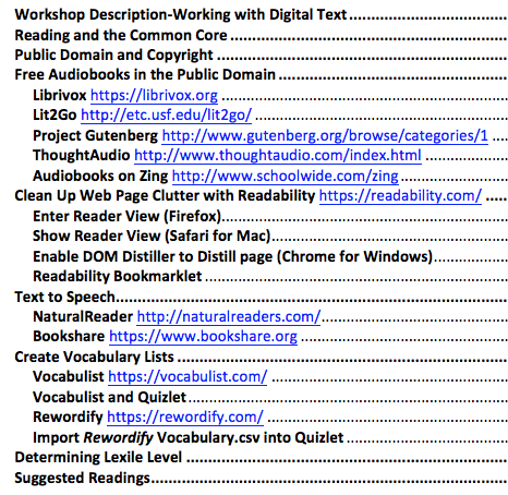 WorkingwithDigitalText-Table of Contents