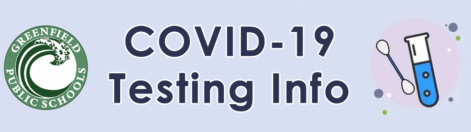 Covid 19 testing info banner