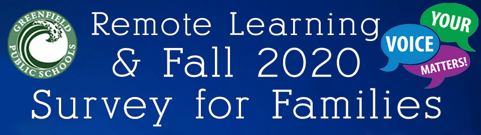Remote Learning and fall 2020 banner 2