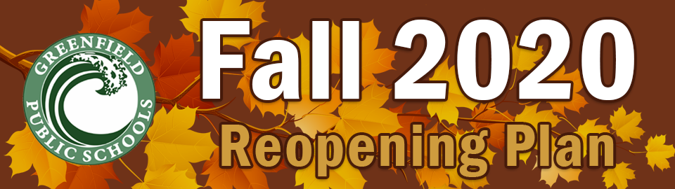 fall 2020 reopening plan banner