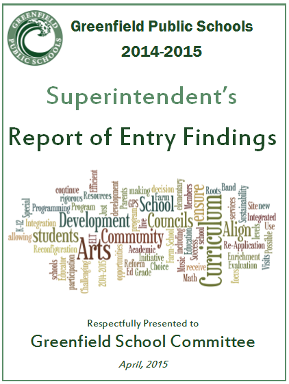 Picture of Report of Entry Findings 2014-15 PDF