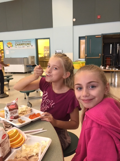 Federal Street students in cafeteria